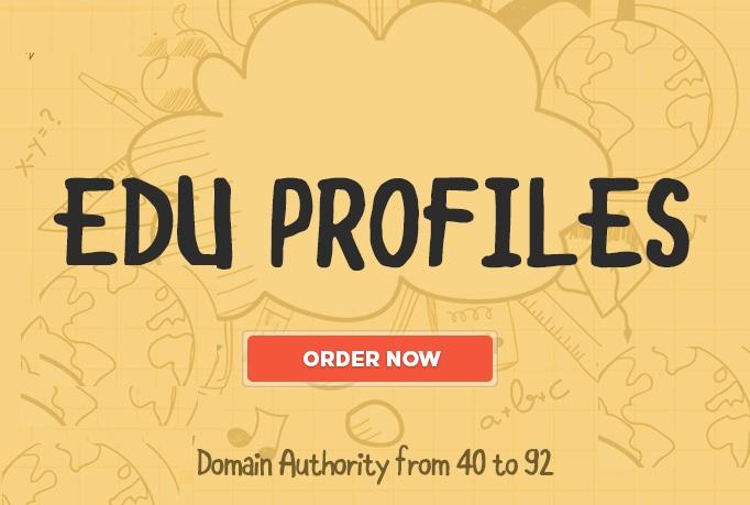 20 EDU Profiles Dofollow BACKLINKS