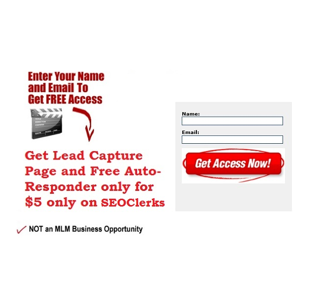 how to create a free lead capture page