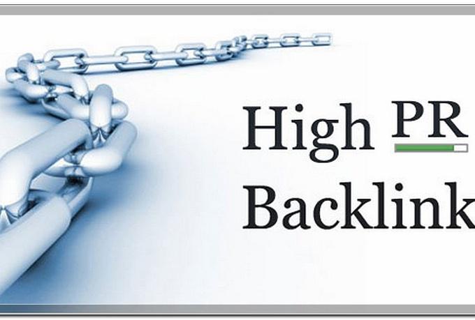 Manually do 20 Pr 10 SEO backlinks Google Top