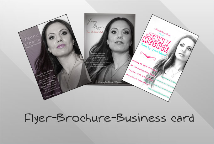 creat an owesome flyer, or brochure for your business