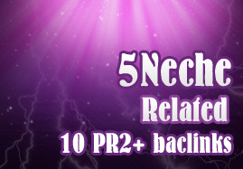 Manual 5 Niche and 10 High PR backlinks Perfect for ranking 100 PERCENT hummingbird safe