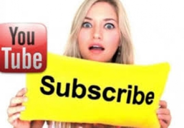 I will Provide 120+ Real YouTube Subscribers Or 300 likes or 30 comments to your YouTube Account