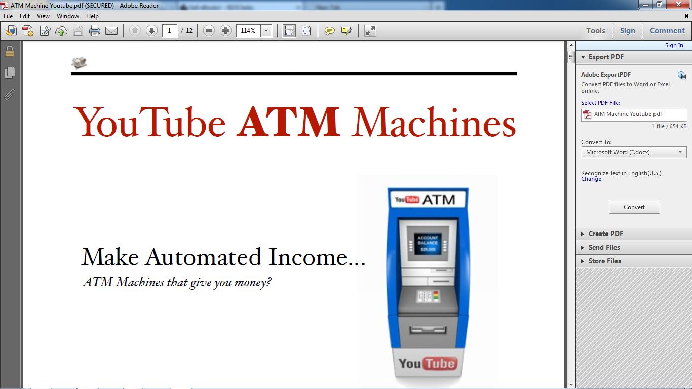 making money with atm machine