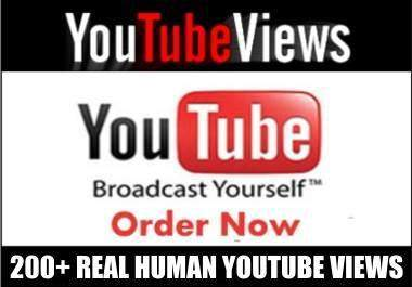 get you 200 to 300 Youtube Vuse from Real People