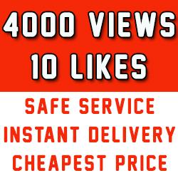 Fast 2000 Youtube Vews + 10 Likes to improve Youtube rank