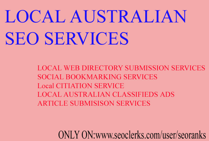 I will provide Australian seo services