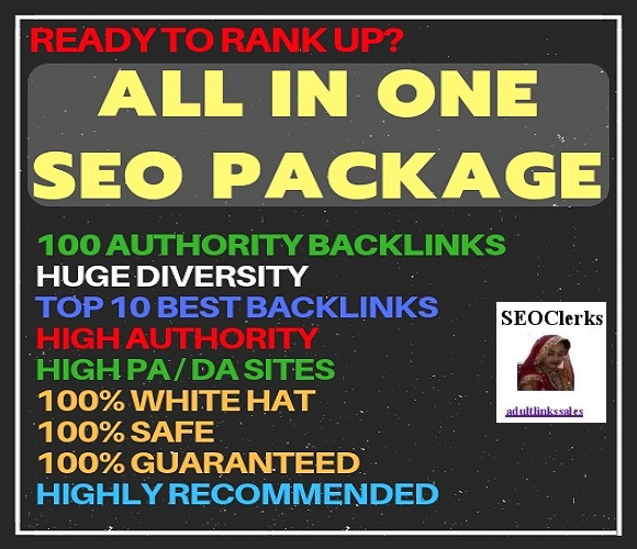 All in One Exclusive SEO Package to Get High Quality Backlinks - Improve your Google SERP Rankings
