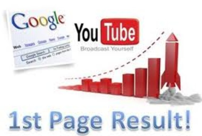 I will seo optimize and get ur youtube video ranked at page 1 search results for