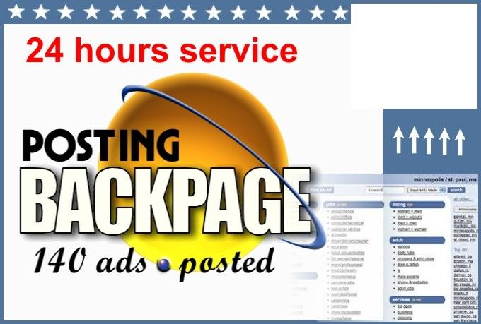 post 99 ads of your business to Backpage