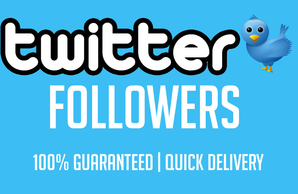 Cheapest & Amazing 1000+ Verified TW followers In 1-12 hours