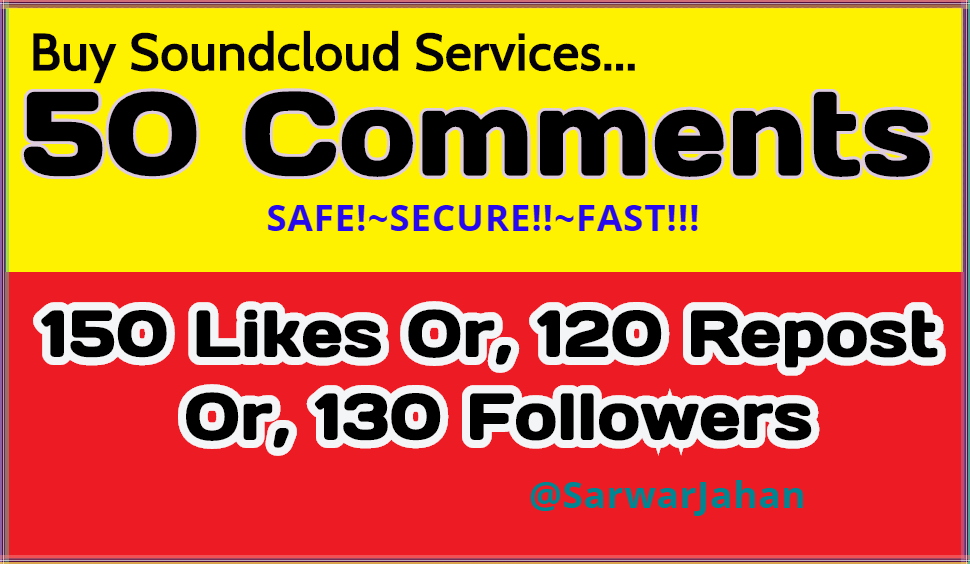 A great Discount 150 Soundcloud Likes OR, 120 Repost OR, 50