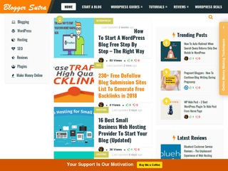 Bloggersutra - Free WordPress Guide,  Blogging,  SEO & Money Making