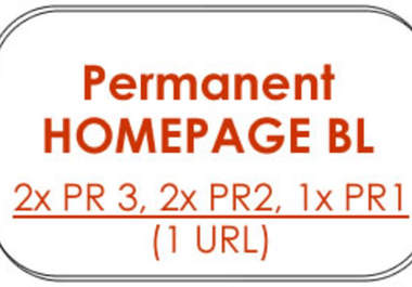 give you 5X Permanent HOMEPAGE Backlinks from Pagerank 2x PR3,  2x PR2,  1x PR1 blogs