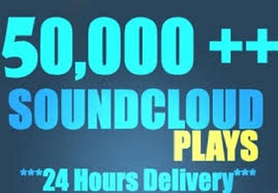 Get 50k+ USA Soundcloud Plays + 100 Likes + 50 repost