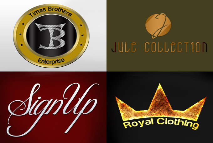 create 5 logo concepts,including a FREE 3D sample