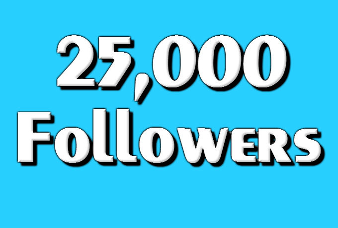 25,000+ Authentic Twiter F0llowers just in