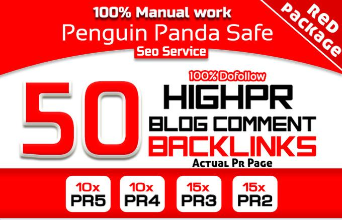 do Manually 50 Highpr Blog Comment SEO Backlink