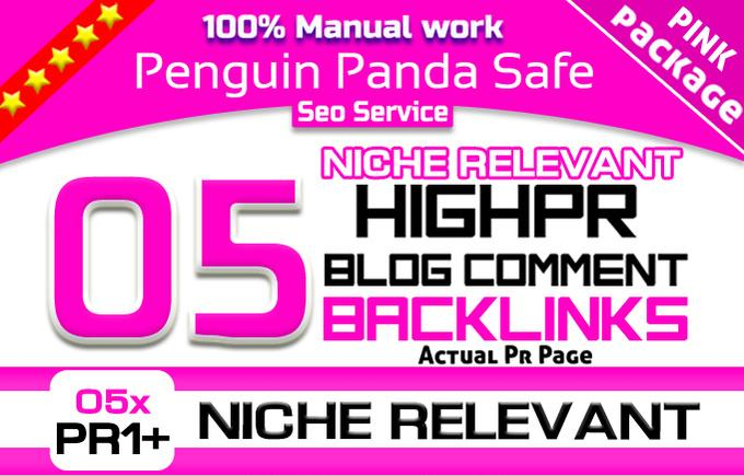 do 05 Pr1 Plus Niche Relevant Blog Comment Penguin Panda Safe Seo Backlinks