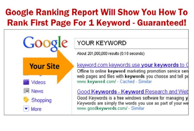 make Google ranking easy with my SEO analysis report