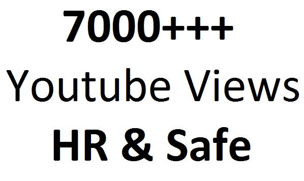 Get 5000 To 6000 High Retention and Safe video Promotion