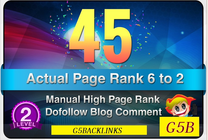I will provide 45 Manual DoFollow Blog Comment Actual PR 6 To 2