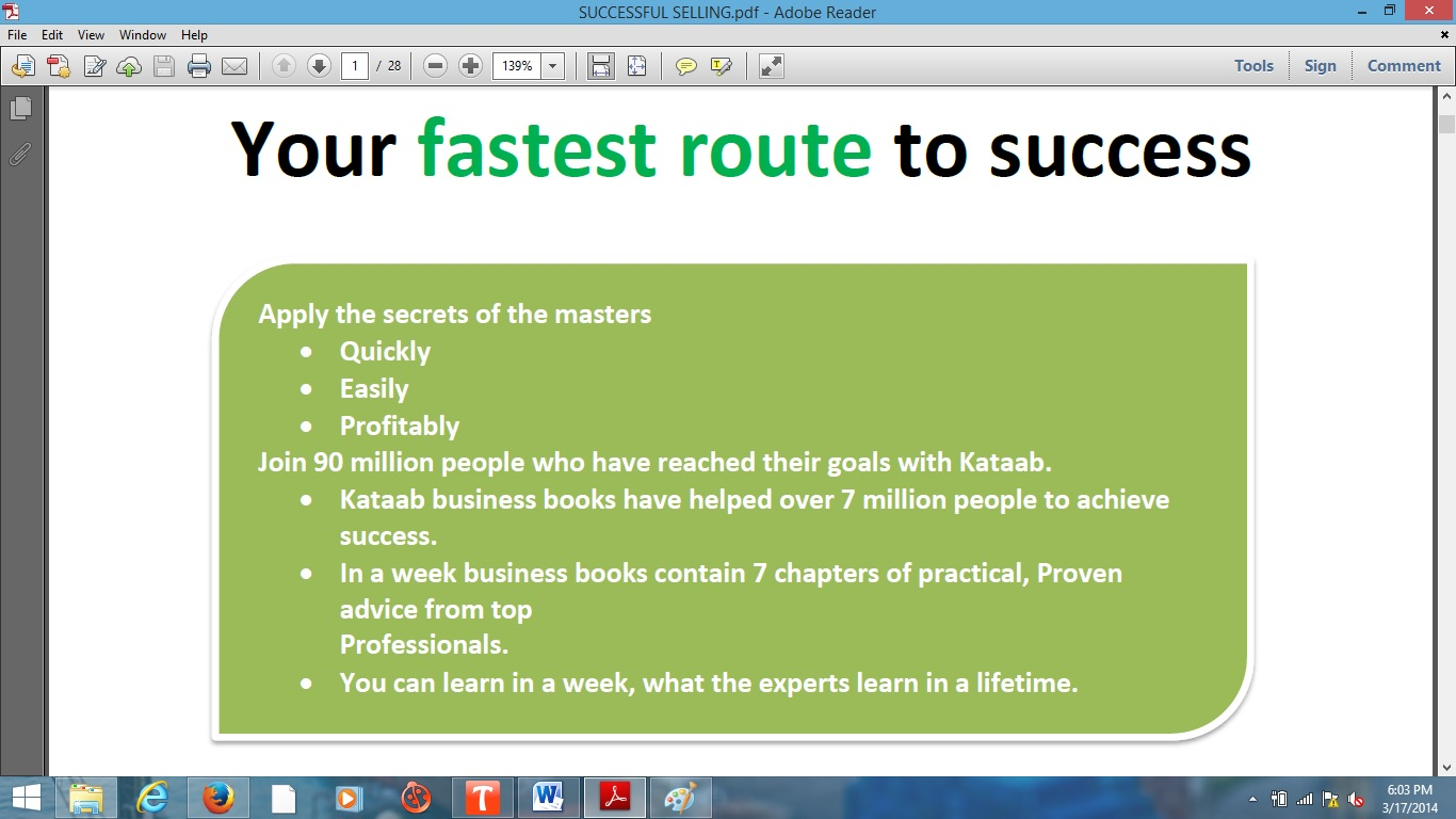 Successful Selling Income Solution