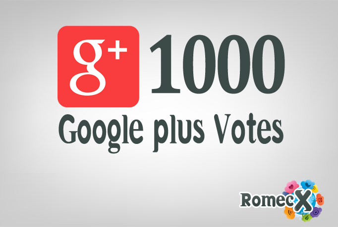 provide 1000 manual Google Plus Votes to any website/...