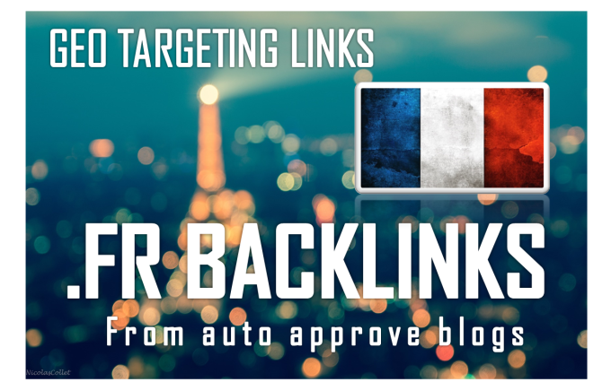 I will create 150 backlinks on french FR blog domains