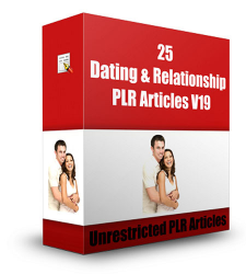 25 Dating And Relationship PLR Articles V 19