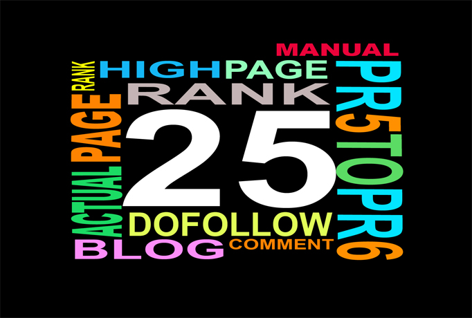 do 25 Manual DoFollow Blog Comment Actual DA50 to DA100