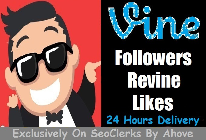 Start Instant 1000 Vine Followers Or Likes Or Revines Or 3000 Loops Or 10 Comments