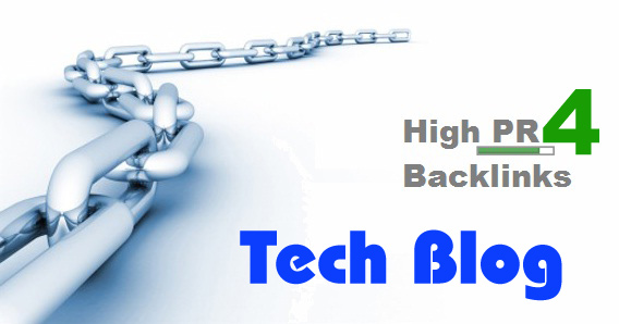 Get Backlinks from Google PR 4 Tech Blog
