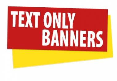 I will create a simple text banner for 5 seoclerks - Text banner design ...