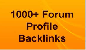 I Will Create Over 1000 High PR Forum Profile Backlinks
