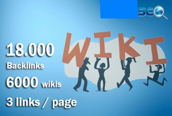 I will do 18000 contextual backlinks from 6000 WIKI p...