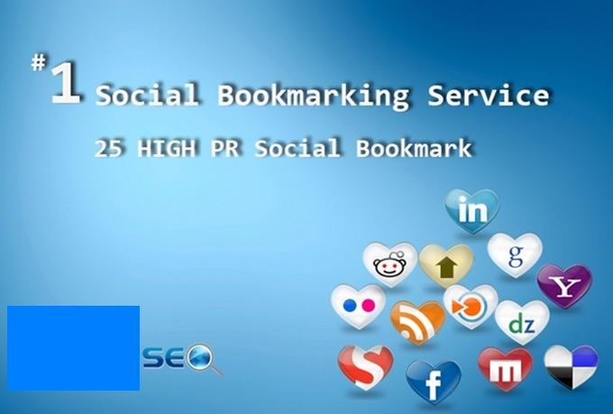 I will submit your website,  blog or youtube on 25 HighPR seo Social Bookmarks Manually