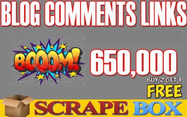 I Will Scrapebox Blast,  650k Live SEO Blog Comments Bulk Backlinks