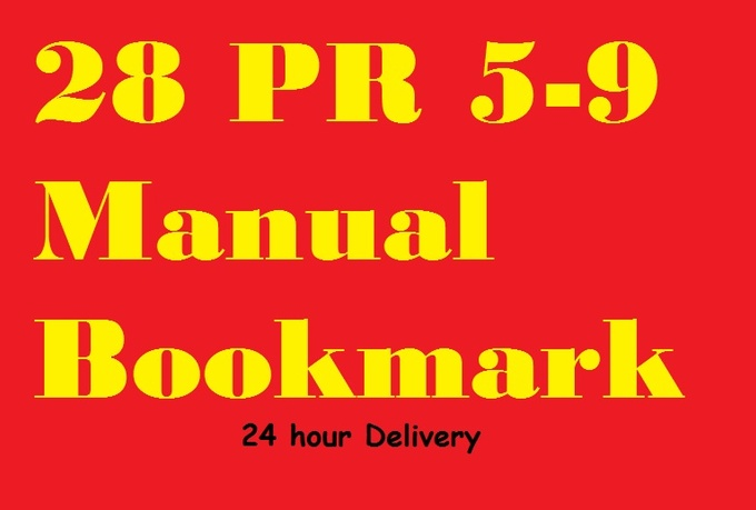 I will manually create 28 PR 5to9 bookmark