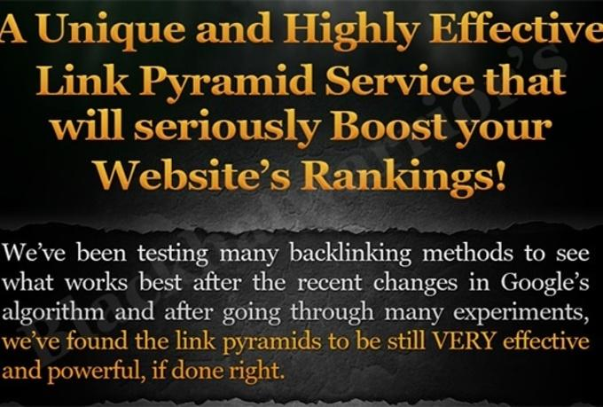 I will create Ultimate Link Pyramid with over 100 Web Properties and 2500 Wiki Articles