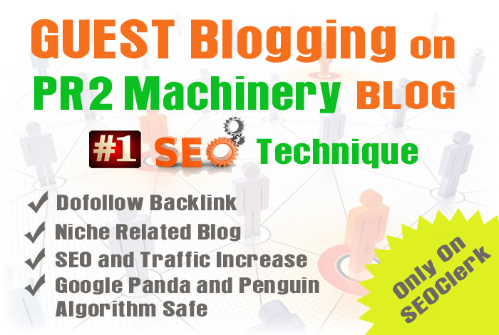 Publish your guest post to my PR2 Machinery blog