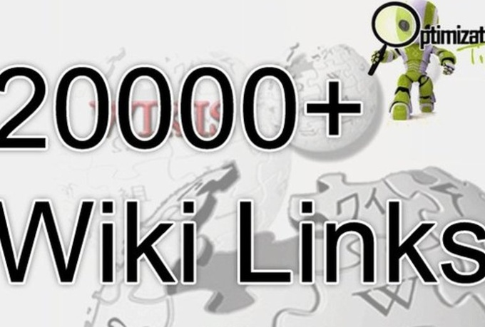 I will pr8 to PR0 24000 WIKILINKS + 40000 Comment Bac...