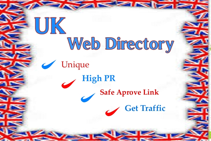 i will do high PR 50 UK Directory Submission for generate traffic for your website