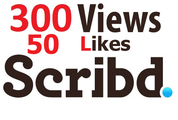 add 300 Scribd Views and 50 Likes to your books