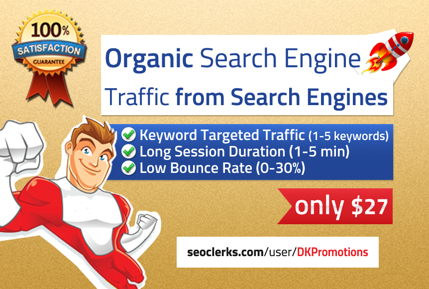 ORGANIC Keyword Targeted Search Engine Traffic with L...
