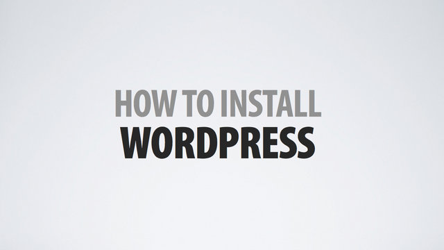 install wordpress to your host for your site