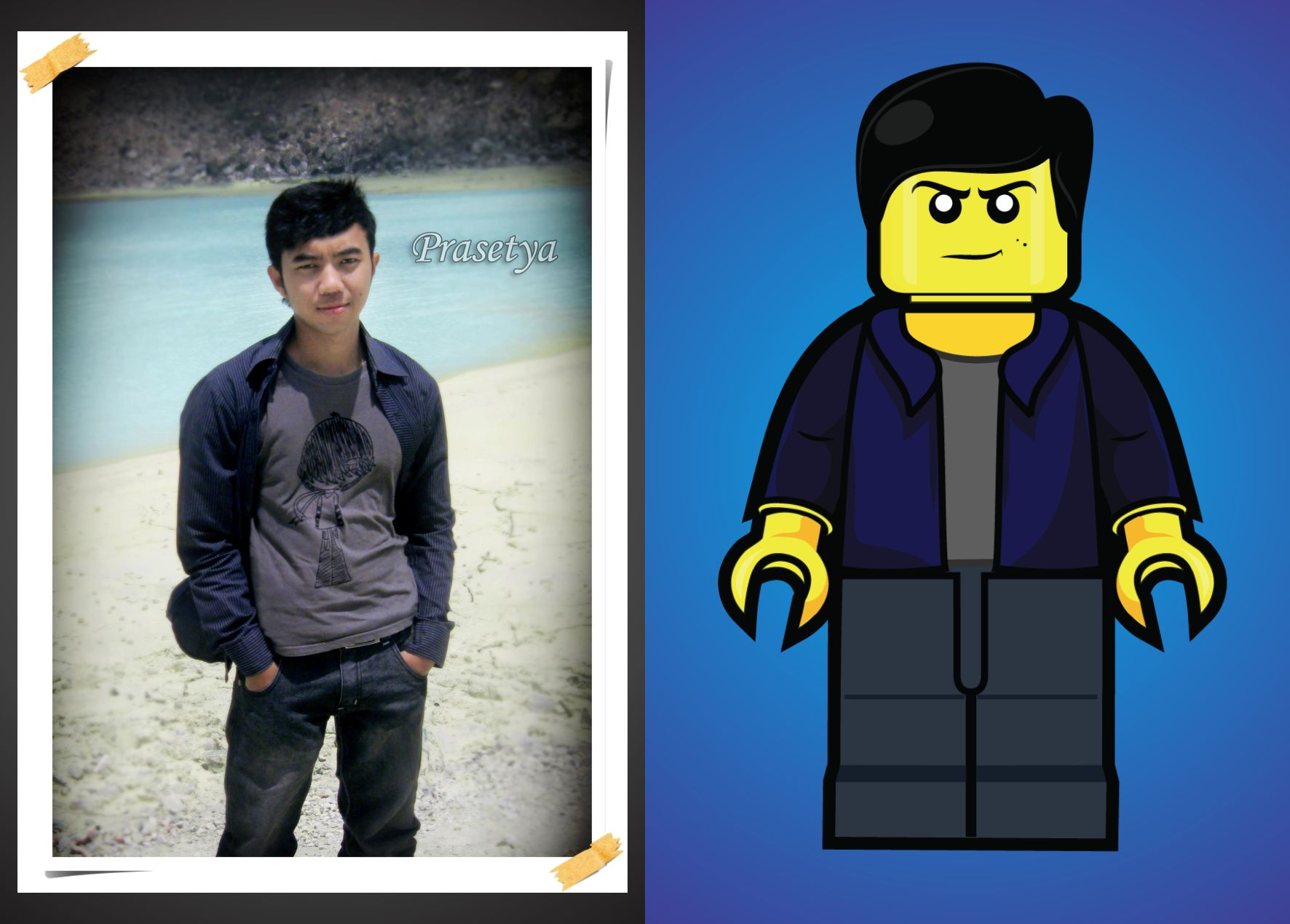 Draw you as LEGO style
