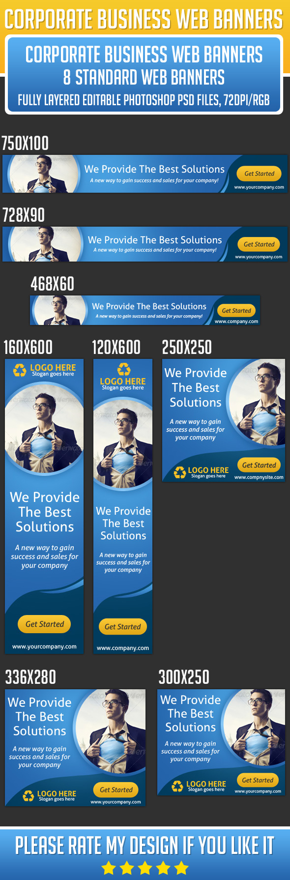 I Will Create a professional Banner or Web Banner PSD File for