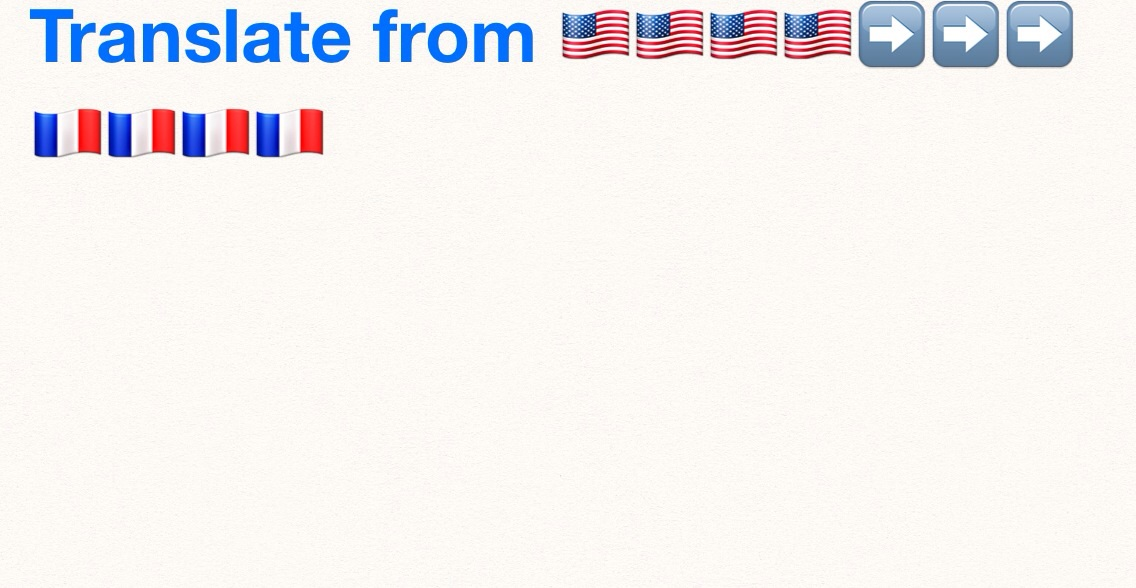 Translate your 150 words form English to French or vice versa