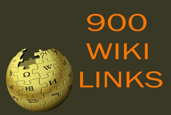 I will provide 900 Wiki links