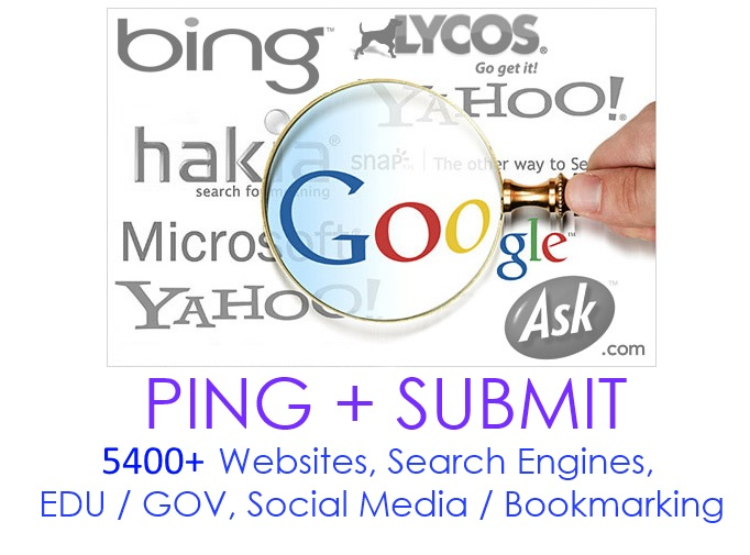 Ping + backlinks + submit your site to over 12800+ si...